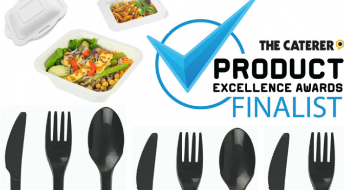 Vegware finalist Caterer PEA Awards black cutlery gourmet range takeaway