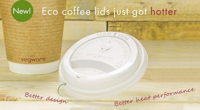 Vegware hot cup lid eco compostable bio biodegradable