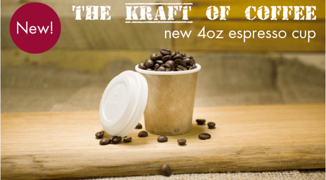 Vegware 4oz espresso hot cup coffee