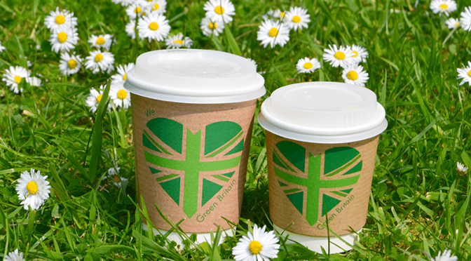 Vegware hot cups britain green summer