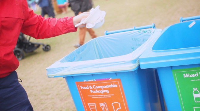 bin compostable packaging festival