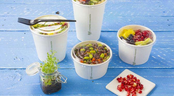 soup container new product clear lids vegware compostable packaging