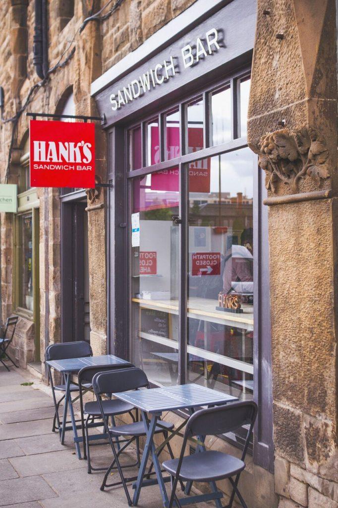 Hanks vegetarian sandwich