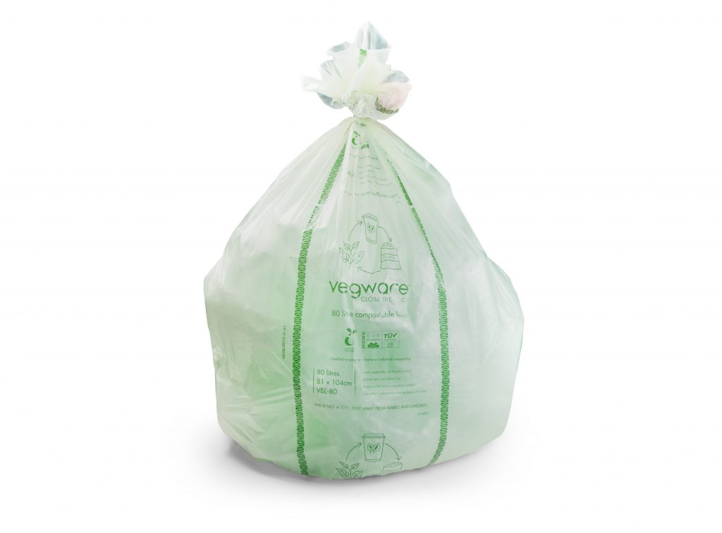 Vegware biobag compostable bin liner composting organics waste 'Positive Impact' in GrowingBusinessAwards