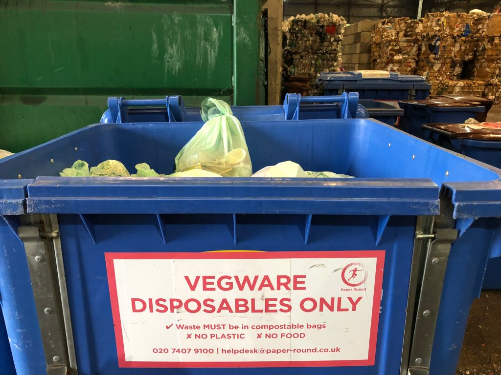 Vegware compostable disposable packaging composting Paper Round London Brighton recycling